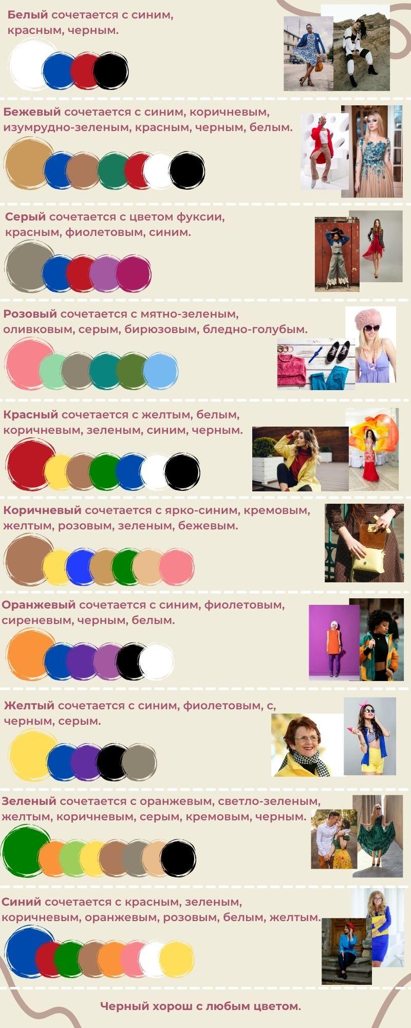 как сочетать одежду